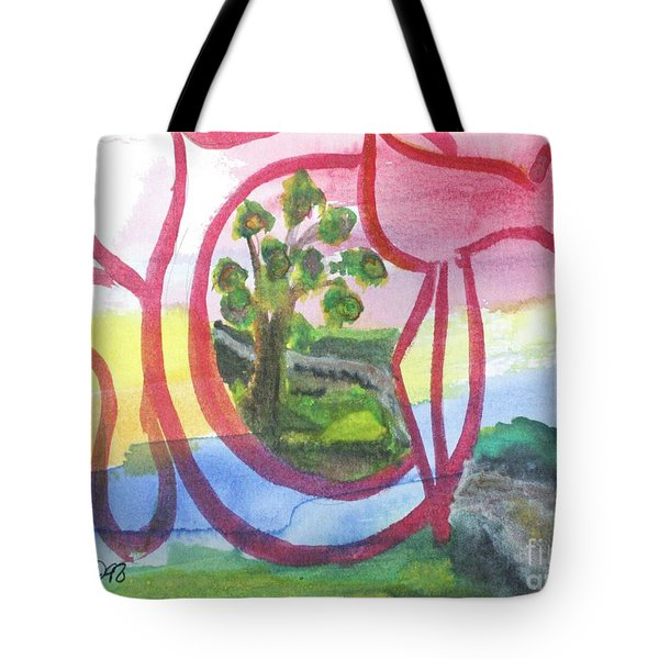 Tote Bag featuring the painting Hasia Chasya Nf1-106 by Hebrewletters Sl