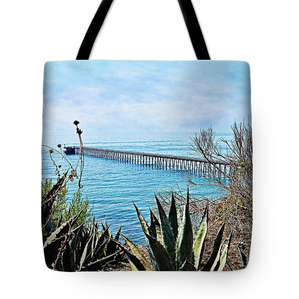 Haskell Beach Pier Tote Bag