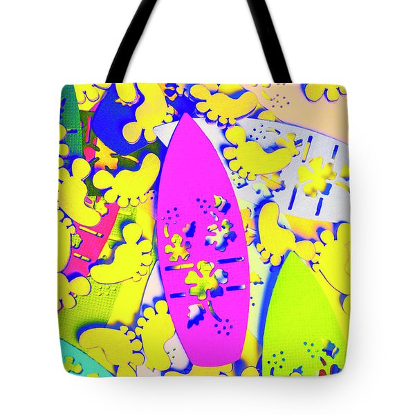 Hawaiian Design Tote Bag