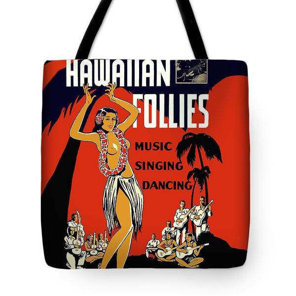 Hawaiian Hula Topless Girl Dance Tote Bag