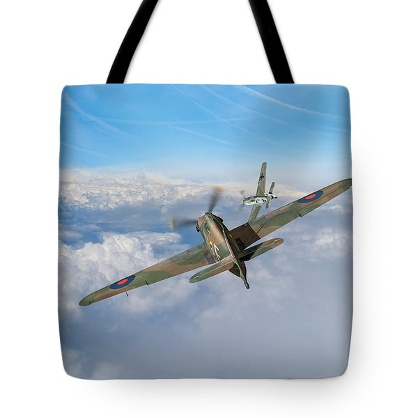 Tote Bag featuring the photograph Hawker Hurricane Deflection Shot by Gary Eason