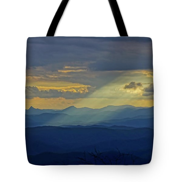 Hawks Bill Mountain Sunset Tote Bag