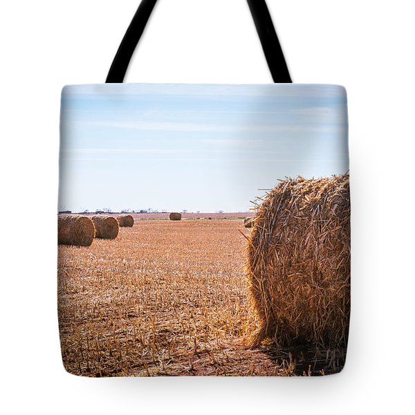 Tote Bag featuring the photograph Hay Rolls by Dheeraj Mutha