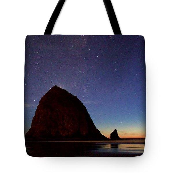 Haystack Night Sky Tote Bag