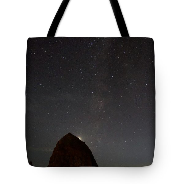 Haystack Night Under The Stars Tote Bag