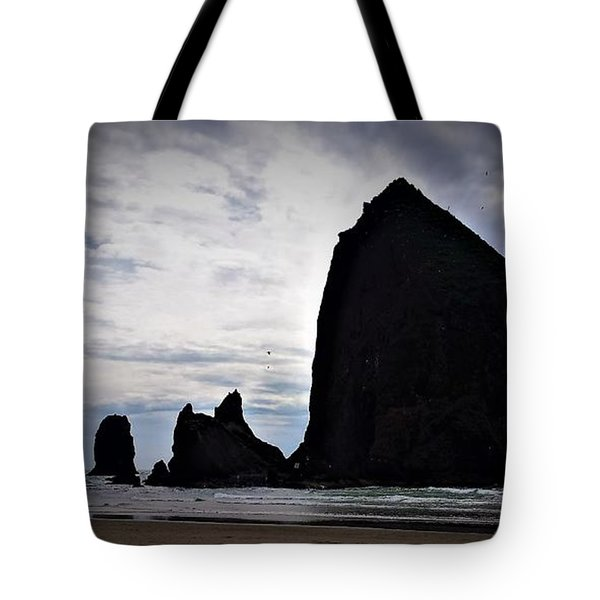 Haystack Rock Canon Beach Tote Bag