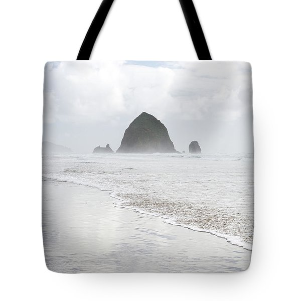 Tote Bag featuring the photograph Haystack Rock by Tim Newton