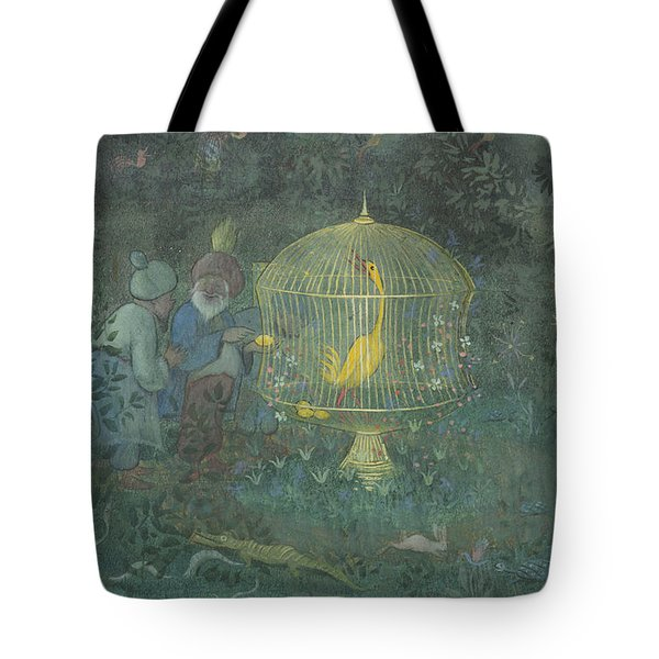 Tote Bag featuring the drawing he Golden Bird of the Caliph by Ivar Arosenius