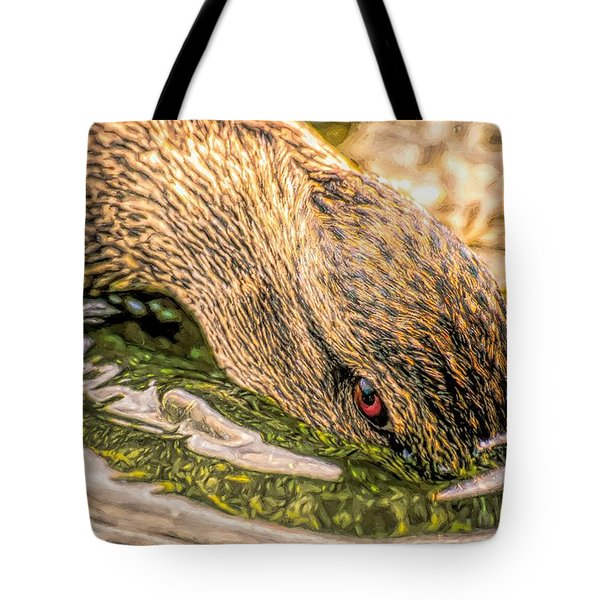Head Dunking Duck Toned Tote Bag
