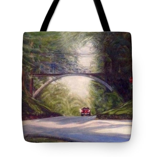 Tote Bag featuring the painting Heading East by J Reynolds Dail