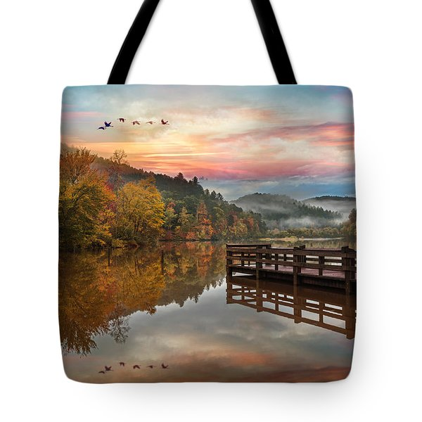 Heading Home At Sunset Tote Bag