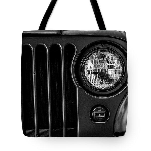 Headlight, Jeep Tote Bag