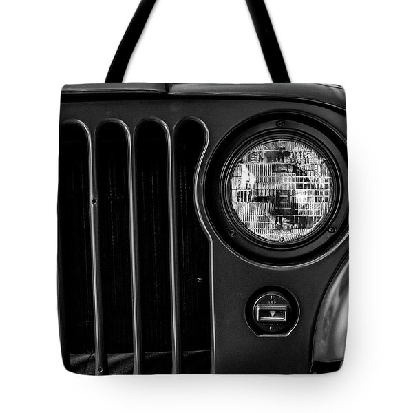 Headlight, Jeep Tote Bag
