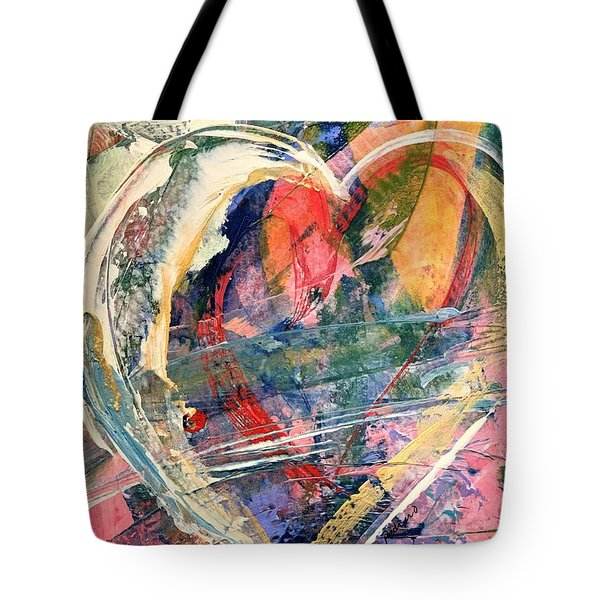 Tote Bag featuring the painting Heart Full Of Love by Robin Maria Pedrero