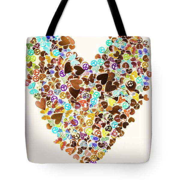 Heart Of A Hippie Tote Bag