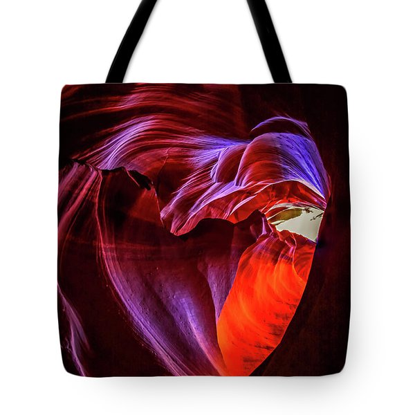 Heart Of Antelope Canyon Tote Bag
