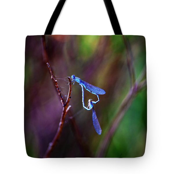 Heart Of Dragonfly Tote Bag