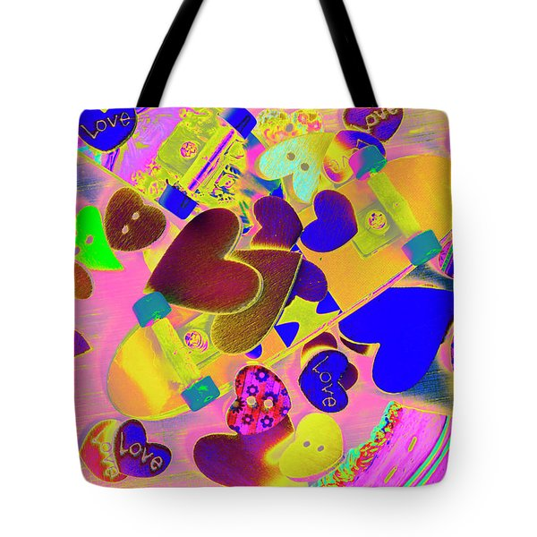 Heart Stack - Fallen For Sk8 Tote Bag