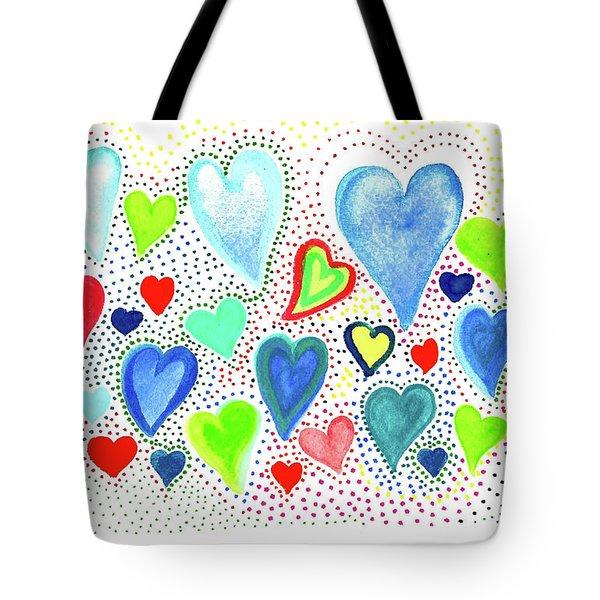 Hearts 1002 Tote Bag