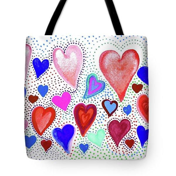 Hearts 1003 Tote Bag
