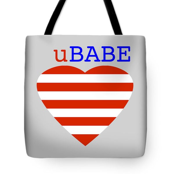 Hearts And Stripes Tote Bag