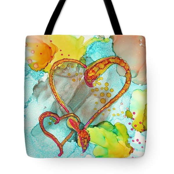 Hearts Entwined Tote Bag