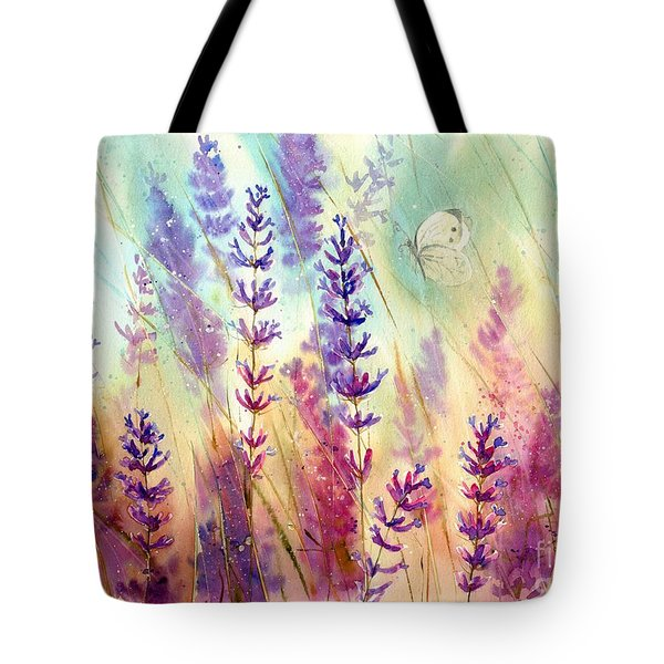 Heathers In Haze Tote Bag