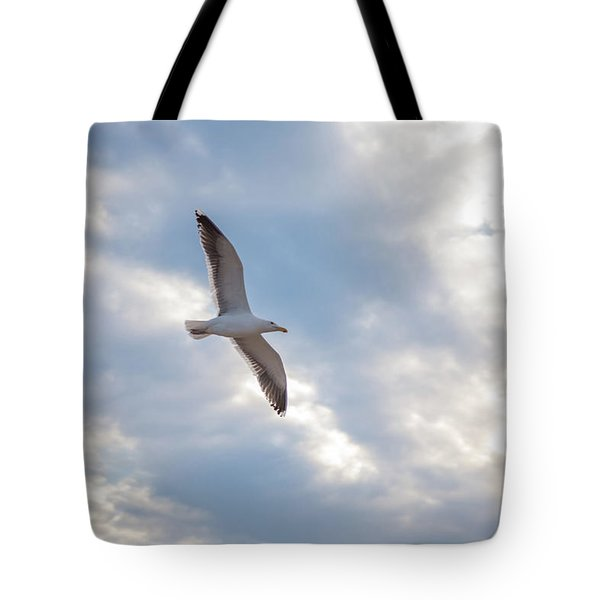 Heavenly Gull - Misquamicut Beach Tote Bag