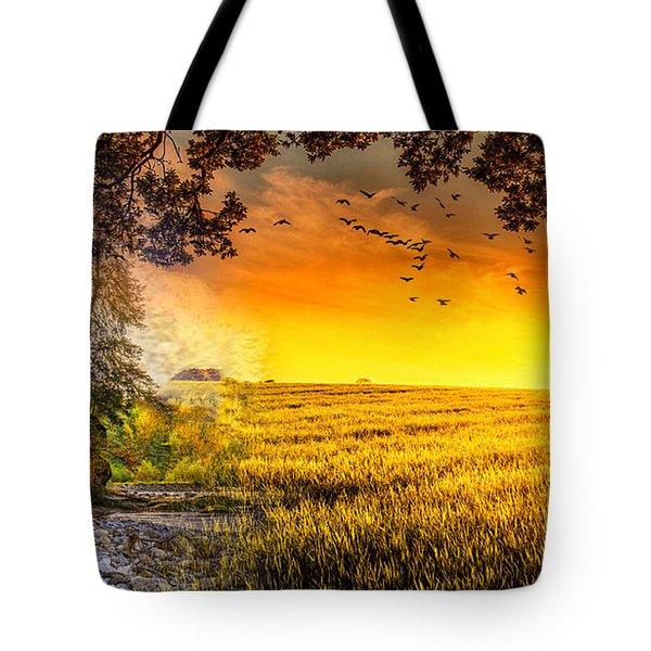 Heaven's Morning Glow Tote Bag