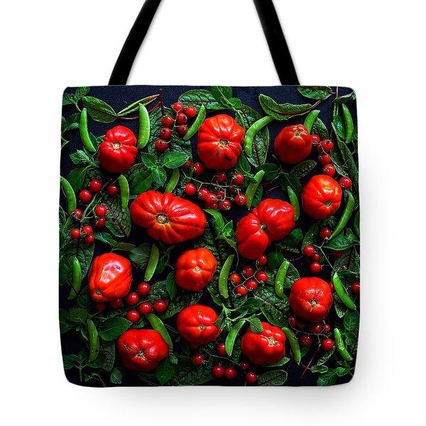 Heirloom Tomatoes And Peas Tote Bag