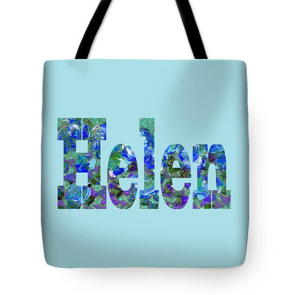 Tote Bag featuring the digital art Helen by Corinne Carroll
