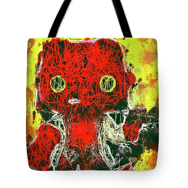 Tote Bag featuring the mixed media Hellboy by Al Matra