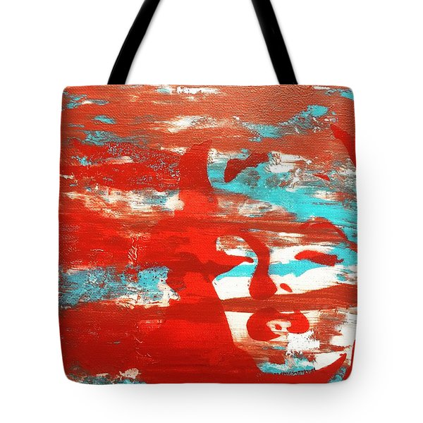 Tote Bag featuring the mixed media Her Glow by Jayime Jean