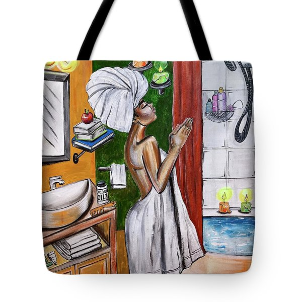 Her Prayer Tote Bag