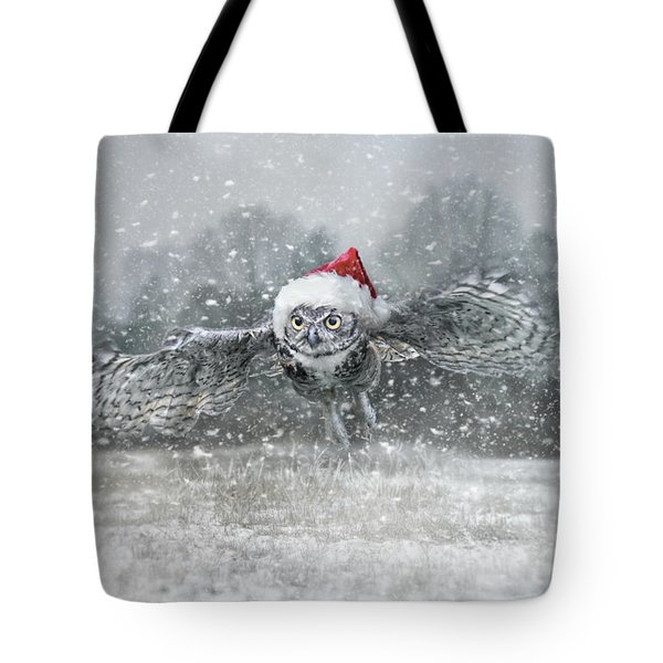 Tote Bag featuring the photograph Here Comes Santa Claws by Jai Johnson