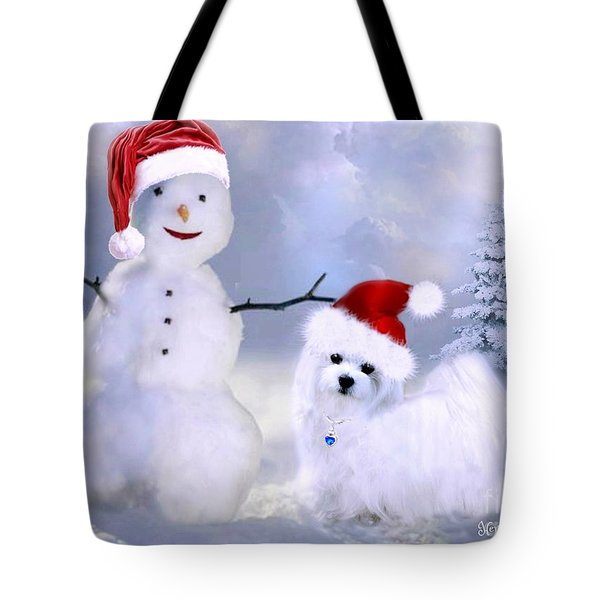 Hermes And Snowman Tote Bag