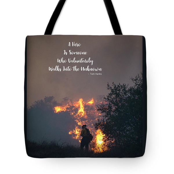 Tote Bag featuring the photograph Hero by Lynn Bauer