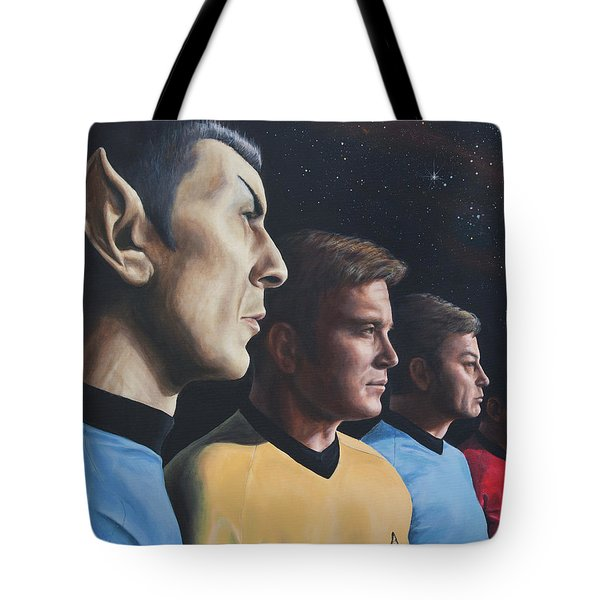 Heroes Of The Final Frontier Tote Bag