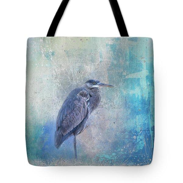 Tote Bag featuring the photograph Heron Harmony by Jai Johnson