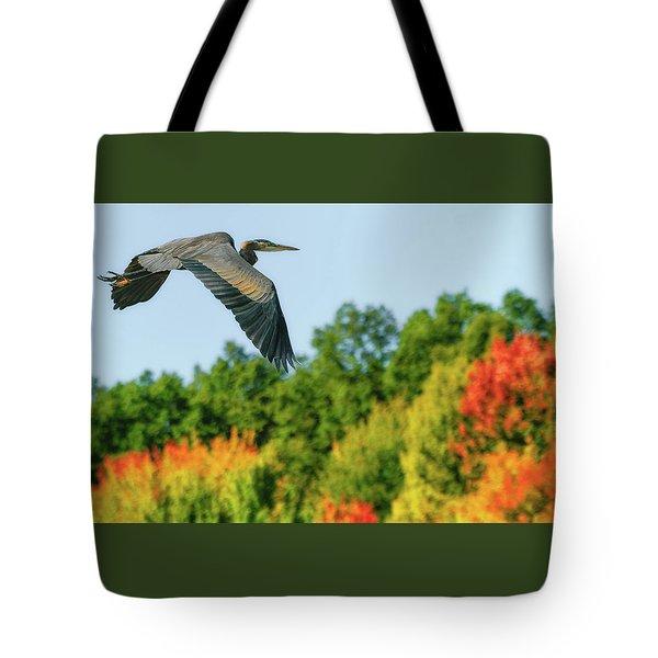 Heron In Autumn  Tote Bag