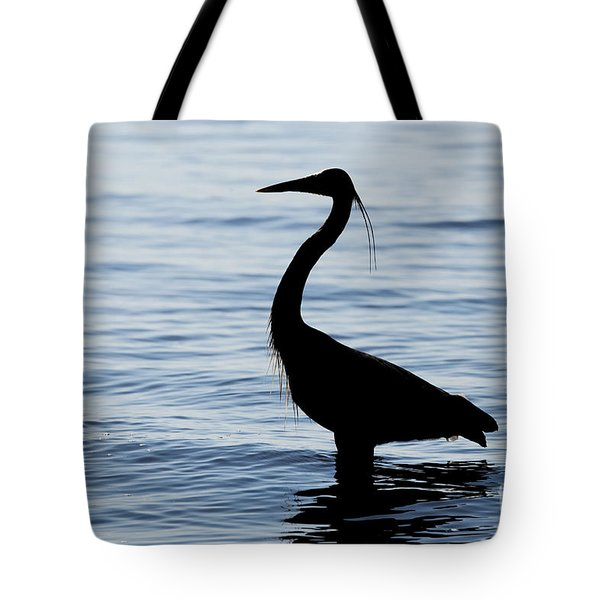 Tote Bag featuring the photograph Heron In Silhouette by Sue Harper