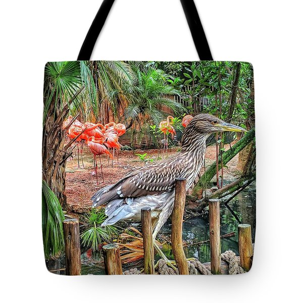 Heron On Guard Tote Bag