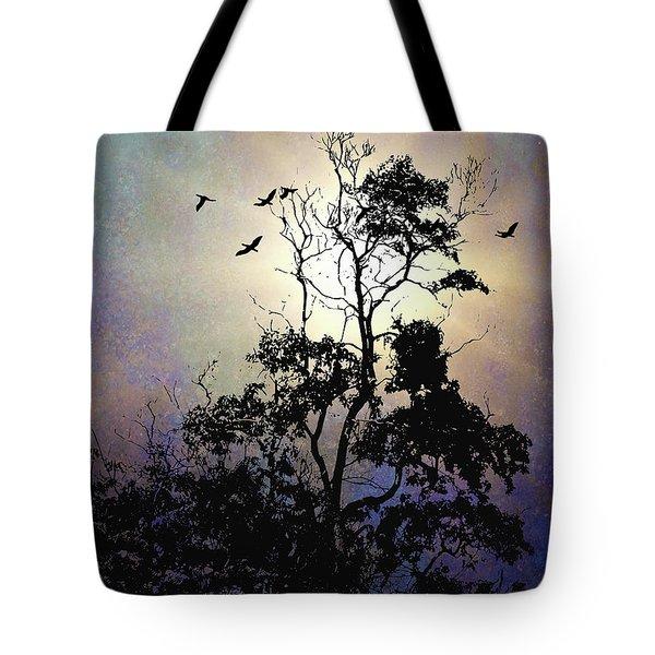 Herons At Dusk Tote Bag