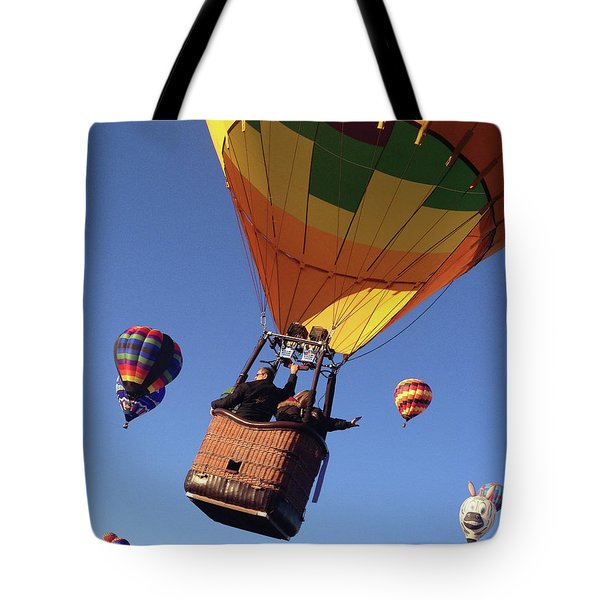 Hi From Up High Tote Bag