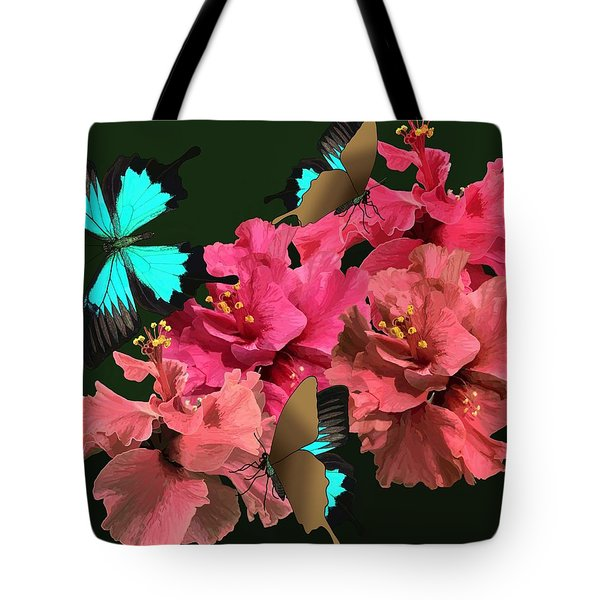 Hibiscus Butterfly Joy Tote Bag