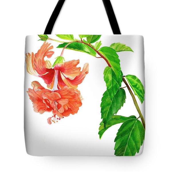 Hibiscus El Capitolio Square Design Tote Bag