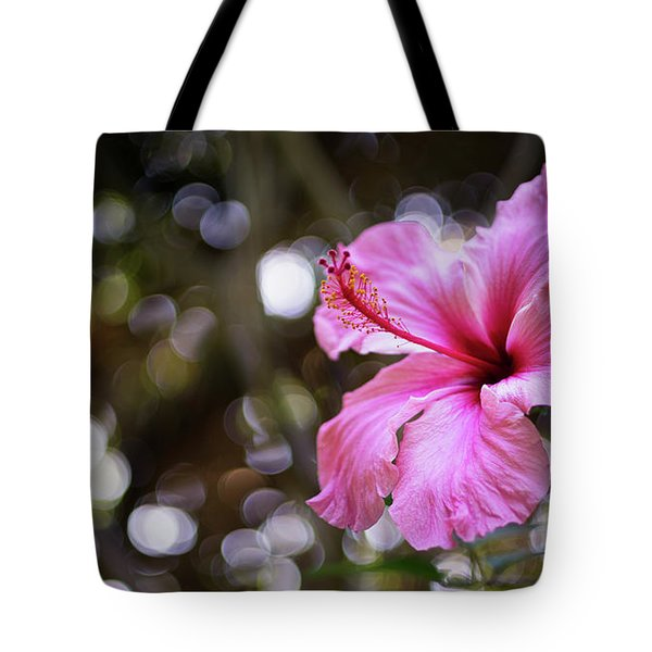 Tote Bag featuring the photograph Hibiscus Flower Bloom by Pablo Avanzini