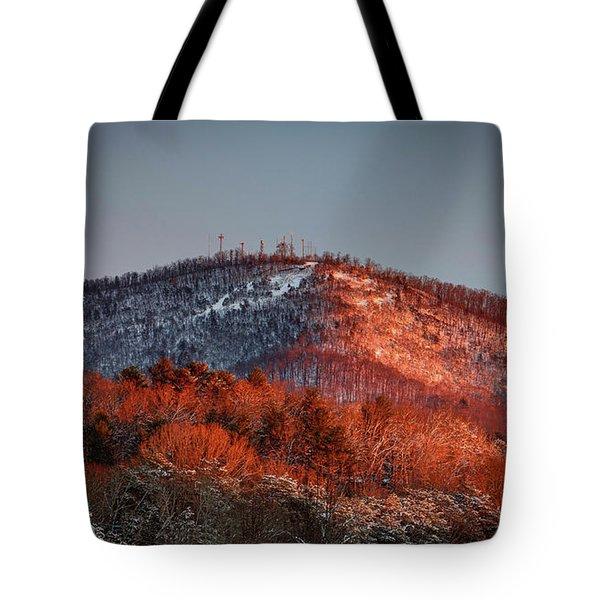 Hibriten Mountain - Lenoir, North Carolina Tote Bag