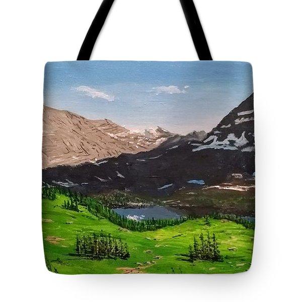 Hidden Lake Pass Tote Bag