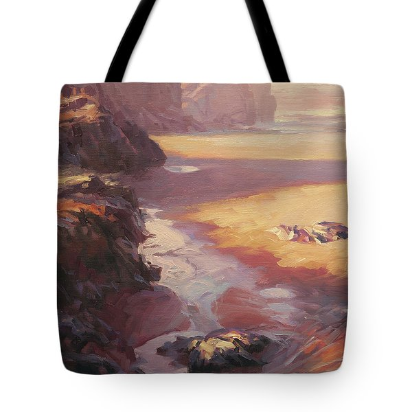 Tote Bag featuring the painting Hidden Path To The Sea by Steve Henderson